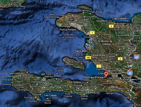 Haiti - Map of haiti in relation to us